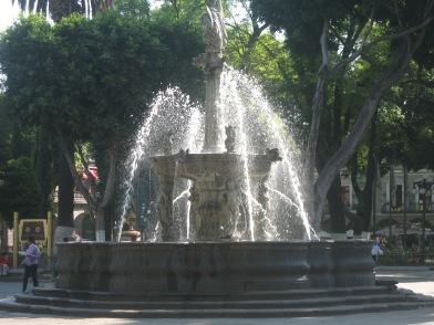 Fountain in Pueba's zocalo
