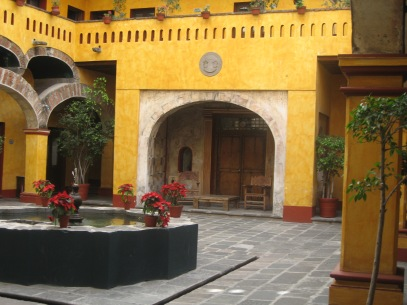 Central courtyard of our hotel