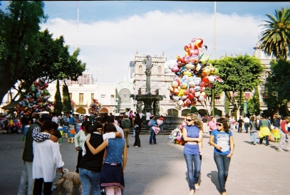 the zocalo on Christmas morning