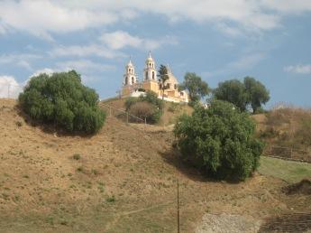 the cathedral at Cholula