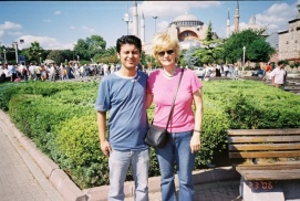 In front of Aya Sofya