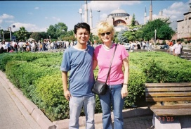 In front of Aya Sofya 2006