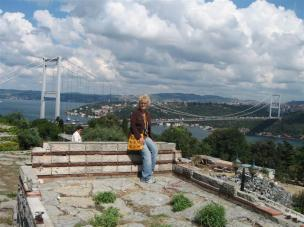 On top of the hill over Rumeli Hisari