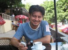 Sevket at the teahouse at Rumeli Hisari