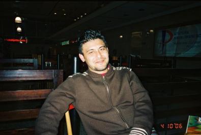 Sevket at the airport