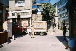 "our bakery with its van parked out front--""ekmek"" means bread"