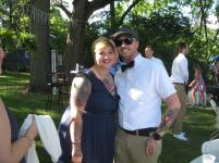 my niece Betsy and her hubby Devon, who officated the ceremony