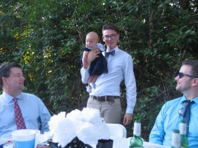 the groom captures a baby