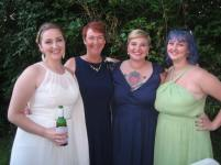 the bride, her mother and sisters
