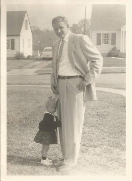 Daddy and me, early 1953
