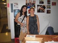 Juhi and Eden at the desk