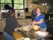 Madeline making quesadillas