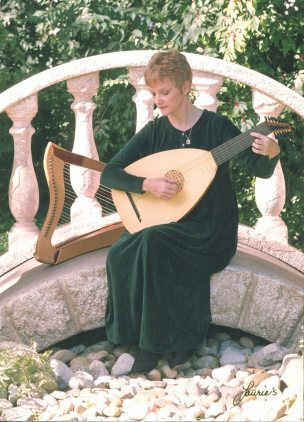 me with my new lute and Celtic harp