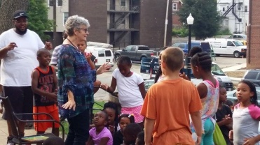 Read-aloud guest Freedom School July 22, 2016, dancing (2)