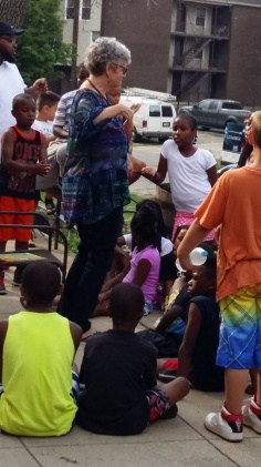 Read-aloud guest Freedom School July 22, 2016, dancing (3)