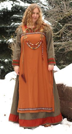 burnt orange apron dress
