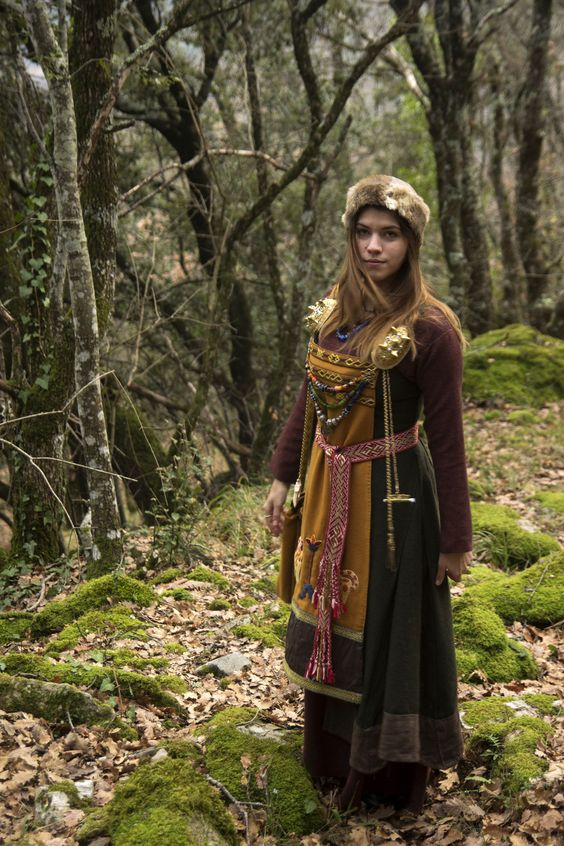 viking dress brown