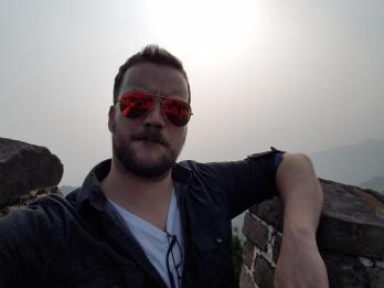 Nick at the Great Wall of China