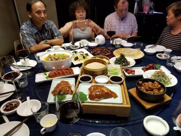 Family dinner, fancy Tianjin restaurant