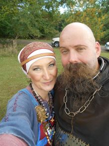 Raven Haraldson and hubby, Red Dragon 2016