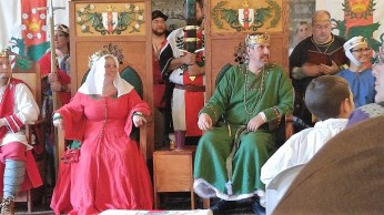 Queen Kateryn and King Edmund hold Court