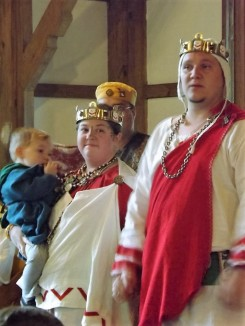 Our Baron and Baroness of the Middle Marches and Their Son