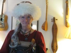 my sheepskin Viking hat