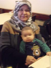 Yasemin's mother and baby son YaYa