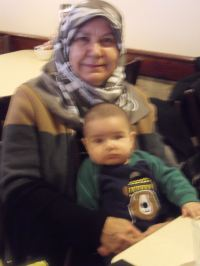 Yasemin's mother and baby son YaYa