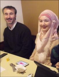 Yasemin's husband Halil and daughter Esma