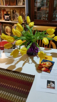 tulips at home