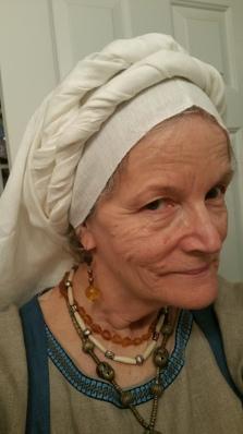 Norse/Viking style head wrap, Feb. 2017