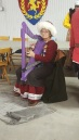 me playing harp at Winter War Maneuvers March 4, 2017