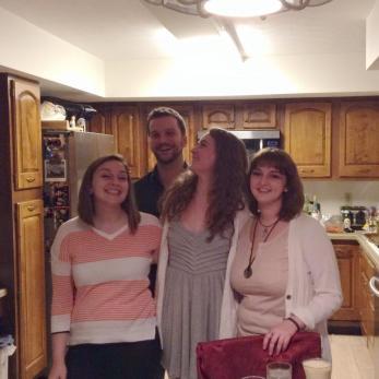 Nick, Anna, Kaleigh, Gracie, Christmas 2014 at Tom's