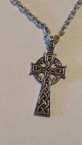 celtic cross, pewter, mine