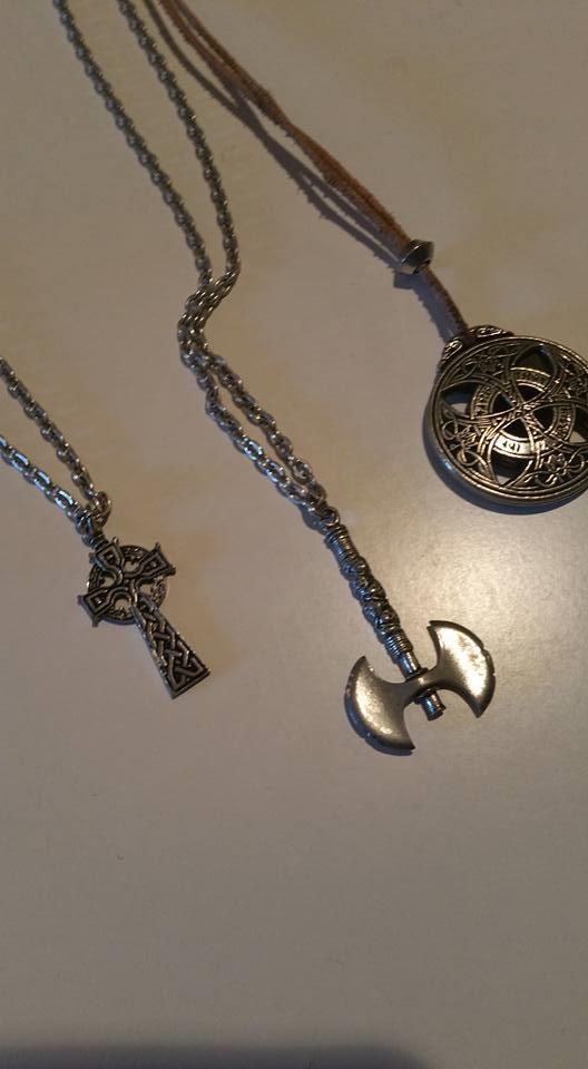 mjolnir, four mjolnir circular and celtic cross, pewter, mine
