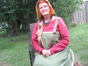 2017-08-17 01.08.22 nicest green apron dress , turtle brooches and beads