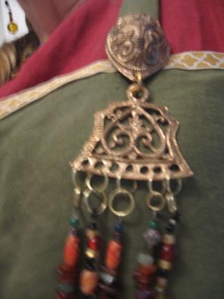 Bronze turtle brooch and hanger