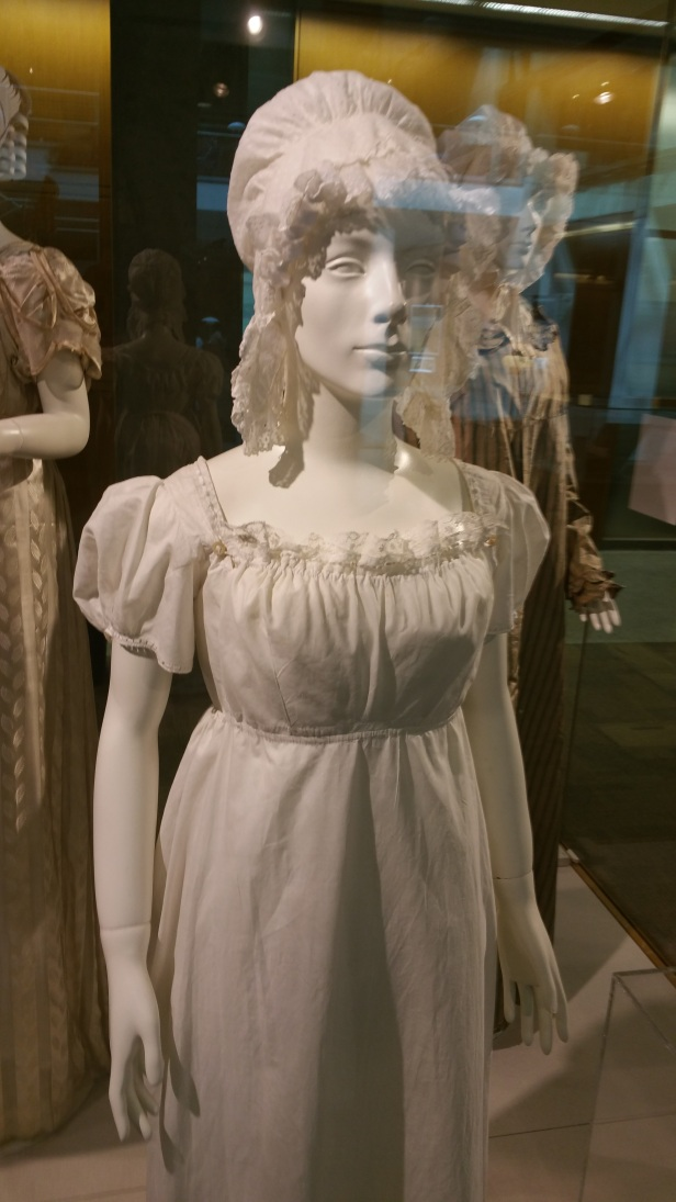 Jane Austen day dress closeup