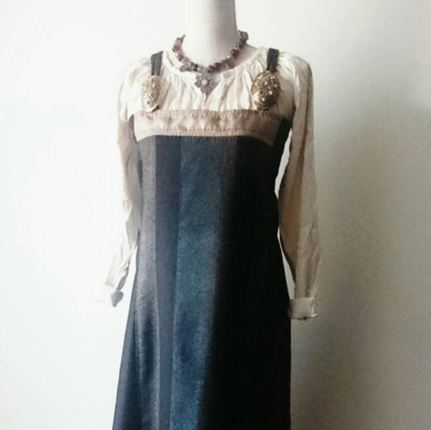 my Viking apron dress from Ingifridh in Sweden