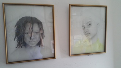 Two works by Lisa McLymont in my hallway