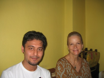 Sevket and me at iftar