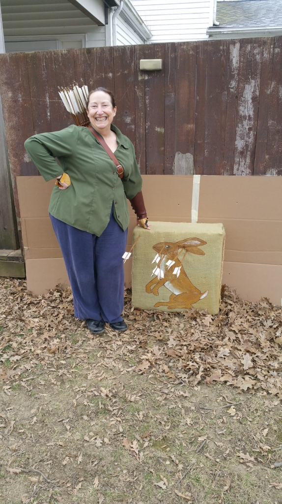 Janet VanMeter backyard archery Feb 2017