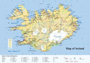 Map of Iceland