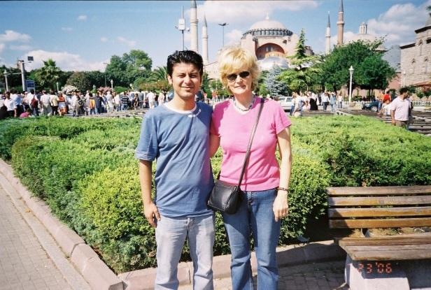 Sevekt and me in front of Aya Sofia 2006
