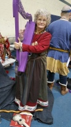 My purple harp and me at Festival of Maidens, Illinois, USA, January 2018.