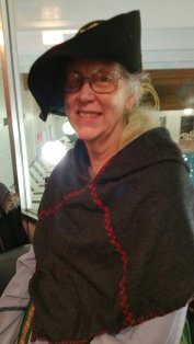 Fabric lady who invited me to my first Pennsic party!