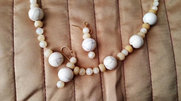 bone necklace detail enhanced