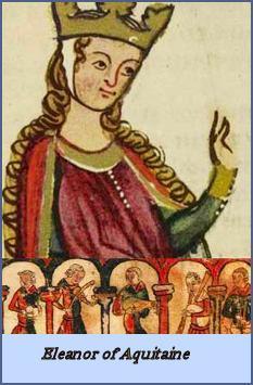 Eleanor of Aquitaine, Image attribution: http://www.defenderofjerusalem.com/eleanor-of-aquitaine.html