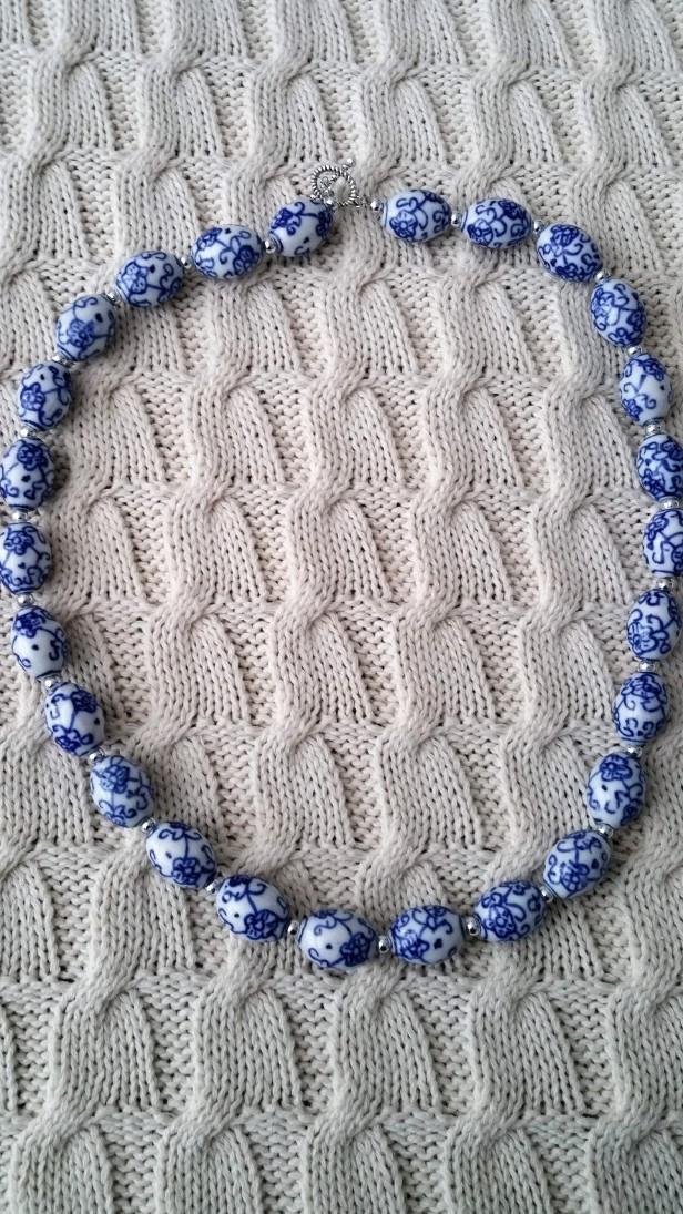 porcelain bead necklace enhanced